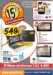 Ofertas de Tablet  en el folleto de PC Coste