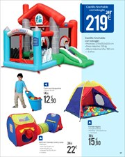 Ofertas de castillo hinchable en el folleto de carrefour for Tobogan piscina carrefour
