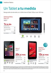 Ofertas de Tablet  en el folleto de Vodafone