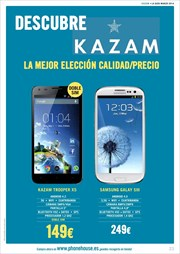 Ofertas de Samsung Galaxy S3  en el folleto de Phone House
