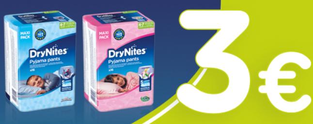 3€ descuento en Drynites