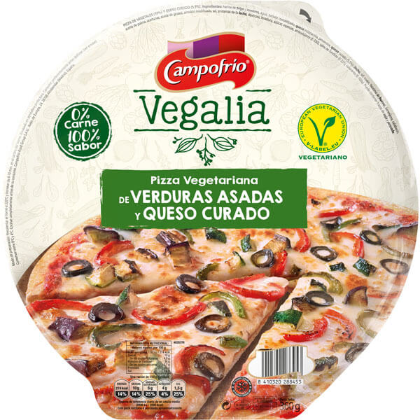 50% de descuento en Pizza Vegalia Verduras360 Camp