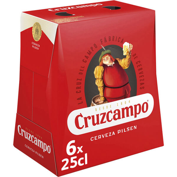 50% de descuento en Cerveza Cruzcampo 6X0,25L