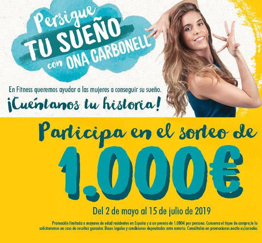 Participa en el sorteo de €1000 y persigue tu sueño con Ona Carbonell