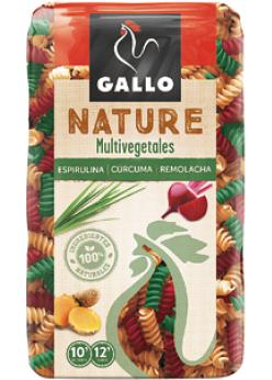 Hélices Gallo Nature Multivegetales (con tomate, remolacha, espirulina, cúrcuma) 400 grs