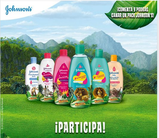 Participa y gana un pack de Productos Johnson's Baby edición Madagascar