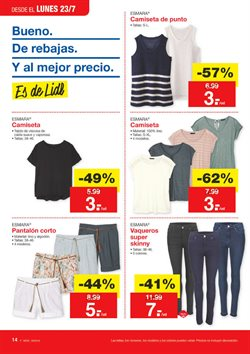 Ofertas de Pantalones mujer  en el folleto de Lidl en Pamplona