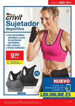 Ofertas de Sujetador deportivo  en el folleto de Lidl en Madrid