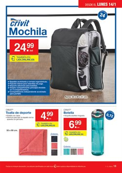 Ofertas de Mochila  en el folleto de Lidl en Bilbao