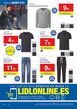 Ofertas de Pantalones hombre  en el folleto de Lidl en Ávila