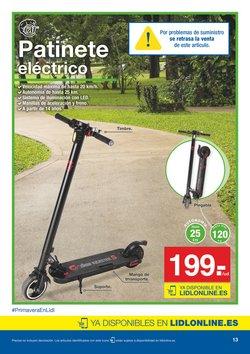Ofertas de Patinete eléctrico  en el folleto de Lidl en Alcalá de Henares