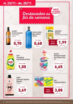 Ofertas de Fairy  en el folleto de Aldi en Pamplona