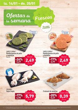 Ofertas de Hamburguesas de pollo  en el folleto de Aldi en Palamos