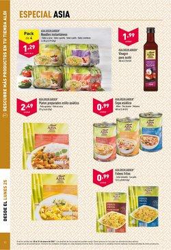 Ofertas de Comida japonesa en ALDI