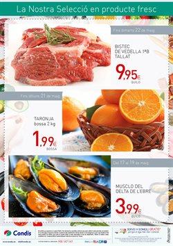 Ofertas de Carne y charcutería  en el folleto de Condis en Palamos