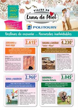 Ofertas de Viajes de novios  en el folleto de Politours en Madrid