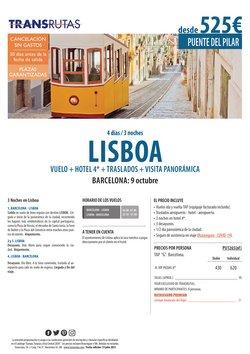 Ofertas de Viajes en el catálogo de Transrutas ( 20 días más)