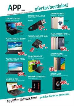 Ofertas de App Informática  en el folleto de Ponferrada