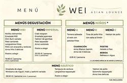 Ofertas de Restaurante Wei  en el folleto de Madrid