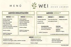 Ofertas de Comida rápida  en el folleto de Restaurante Wei en Madrid