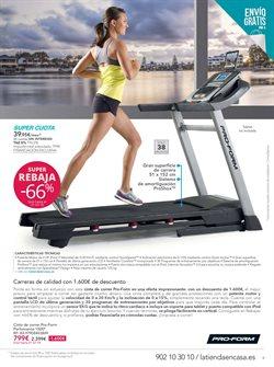 Ofertas de Cinta de correr  en el folleto de La tienda en casa en Madrid