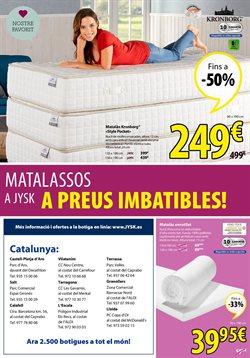 Ofertas de Colchones  en el folleto de JYSK en Palamos