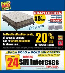 Ofertas de Muebles Max Descuento  en el folleto de Murcia