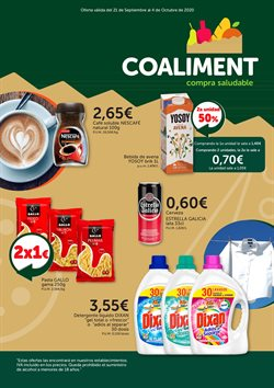 Ofertas de Hiper-Supermercados en el catálogo de Coaliment en Altea ( 3 días más )