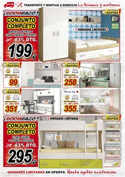 Ofertas de Dormitorio juvenil  en el folleto de Muebles Boom en Madrid