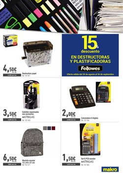 Ofertas de Destructora de papel  en el folleto de Makro en Madrid