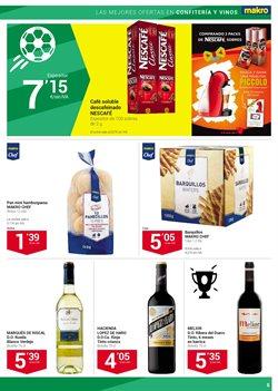 Ofertas de Vino tinto  en el folleto de Makro en San Bartolomé de Tirajana