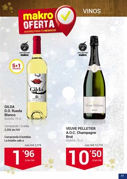 Ofertas de Vino blanco  en el folleto de Makro en Madrid