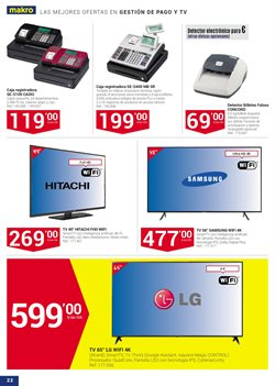 Ofertas de Tv led  en el folleto de Makro en Utrera