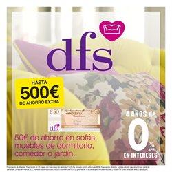 Ofertas de Hiper-Supermercados en el catálogo de DFS Furniture en San Pedro del Pinatar ( Caduca mañana )