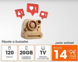 Ofertas de Euskaltel  en el folleto de Madrid
