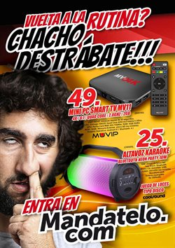 Ofertas de Mandatelo.com  en el folleto de San Cristobal de la Laguna (Tenerife)