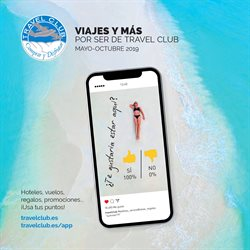 Ofertas de Viajes  en el folleto de Travel Club en Badalona