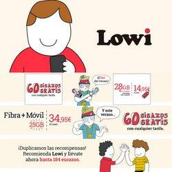 Ofertas de Informática y Electrónica en el catálogo de Lowi ( Publicado hoy)