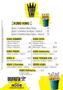 Ofertas de Kubo King  en el folleto de Madrid