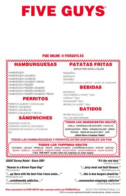 Ofertas de Five Guys  en el folleto de Madrid