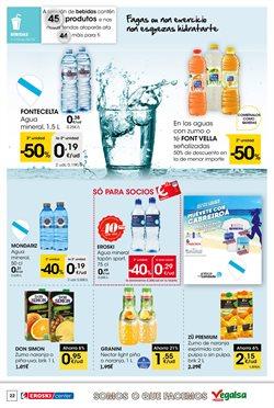 Ofertas de Agua  en el folleto de Eroski en Santiago de Compostela