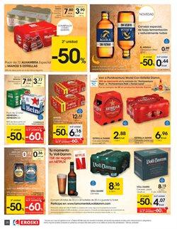 Ofertas de Latas de cerveza  en el folleto de Eroski en Pamplona
