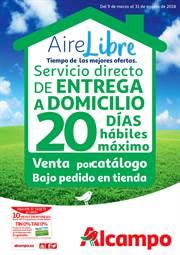Entrega directa de productos de Aire Libre a domicilio.