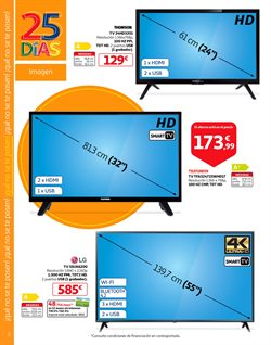 Ofertas de Tv led 32''  en el folleto de Alcampo en Zaragoza