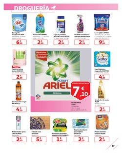 Ofertas de Ariel  en el folleto de Alcampo en San Cristobal de la Laguna (Tenerife)