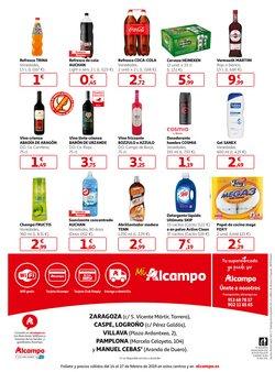 Ofertas de Cerveza  en el folleto de Alcampo en Pamplona