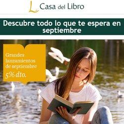 Ofertas de Libros y Papelerías en el catálogo de Casa del Libro ( Caduca hoy)