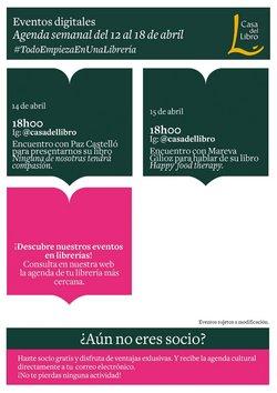 Catálogo Casa del Libro ( Publicado ayer)