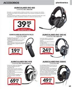 Ofertas de Auriculares bluetooth  en el folleto de Game en Madrid