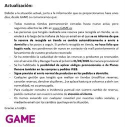 Ofertas de Informática y Electrónica en el catálogo de Game en Salamanca ( 9 días más )